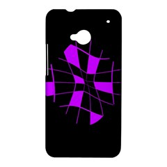 Purple abstract flower HTC One M7 Hardshell Case