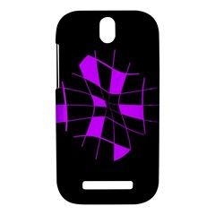Purple abstract flower HTC One SV Hardshell Case