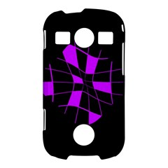 Purple abstract flower Samsung Galaxy S7710 Xcover 2 Hardshell Case