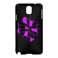 Purple abstract flower Samsung Galaxy Note 3 Neo Hardshell Case (Black)