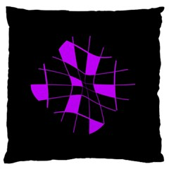 Purple abstract flower Standard Flano Cushion Case (Two Sides)