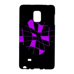 Purple abstract flower Galaxy Note Edge