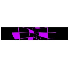 Purple abstract flower Flano Scarf (Large)