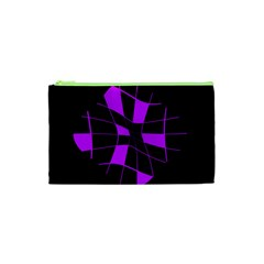 Purple abstract flower Cosmetic Bag (XS)