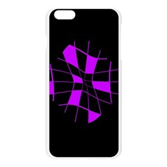 Purple abstract flower Apple Seamless iPhone 6 Plus/6S Plus Case (Transparent)