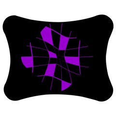 Purple Abstract Flower Jigsaw Puzzle Photo Stand (bow)