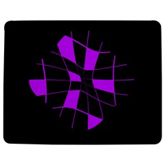 Purple abstract flower Jigsaw Puzzle Photo Stand (Rectangular)