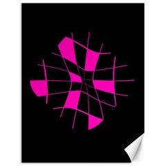Pink abstract flower Canvas 12  x 16