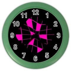 Pink abstract flower Color Wall Clocks