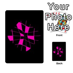 Pink abstract flower Multi-purpose Cards (Rectangle)
