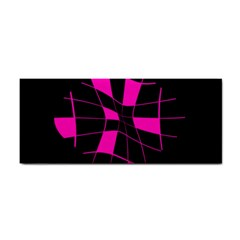Pink abstract flower Hand Towel
