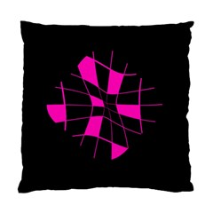Pink abstract flower Standard Cushion Case (One Side)
