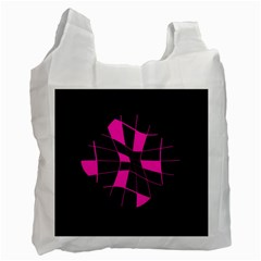 Pink abstract flower Recycle Bag (One Side)