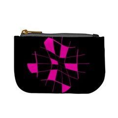 Pink abstract flower Mini Coin Purses