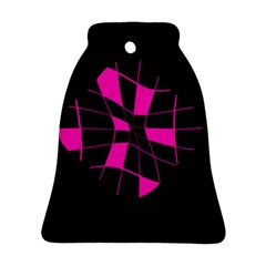 Pink abstract flower Ornament (Bell)