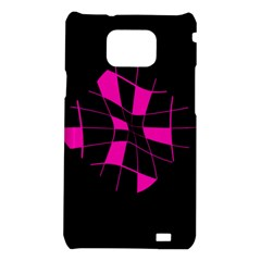 Pink abstract flower Samsung Galaxy S2 i9100 Hardshell Case