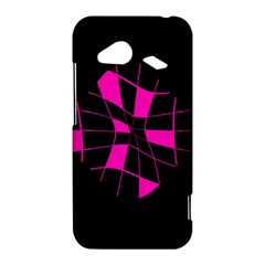 Pink abstract flower HTC Droid Incredible 4G LTE Hardshell Case
