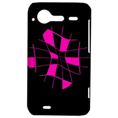 Pink abstract flower HTC Incredible S Hardshell Case