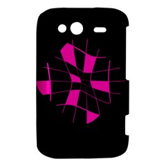 Pink abstract flower HTC Wildfire S A510e Hardshell Case