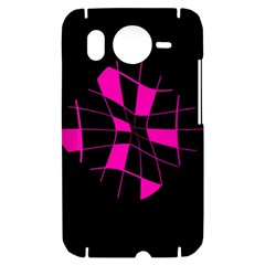 Pink abstract flower HTC Desire HD Hardshell Case