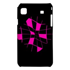 Pink abstract flower Samsung Galaxy S i9008 Hardshell Case