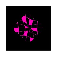 Pink abstract flower Acrylic Tangram Puzzle (6  x 6 )