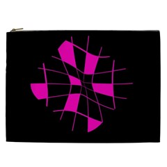 Pink abstract flower Cosmetic Bag (XXL)