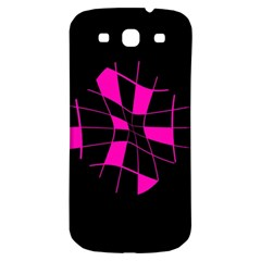 Pink abstract flower Samsung Galaxy S3 S III Classic Hardshell Back Case