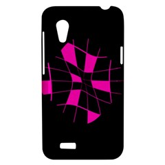 Pink abstract flower HTC Desire VT (T328T) Hardshell Case