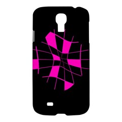 Pink abstract flower Samsung Galaxy S4 I9500/I9505 Hardshell Case