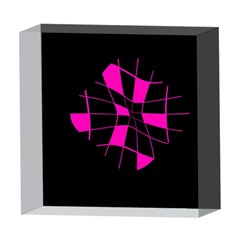 Pink abstract flower 5  x 5  Acrylic Photo Blocks