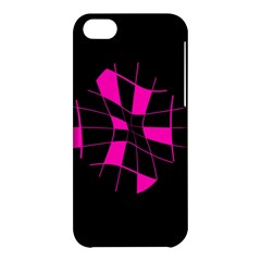 Pink abstract flower Apple iPhone 5C Hardshell Case