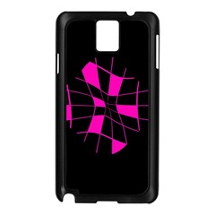Pink abstract flower Samsung Galaxy Note 3 N9005 Case (Black)