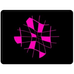 Pink abstract flower Double Sided Fleece Blanket (Large)
