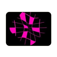 Pink abstract flower Double Sided Flano Blanket (Mini)