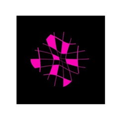 Pink abstract flower Small Satin Scarf (Square)