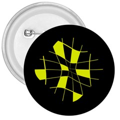 Yellow abstract flower 3  Buttons