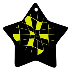 Yellow abstract flower Ornament (Star)