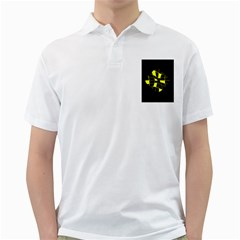 Yellow abstract flower Golf Shirts