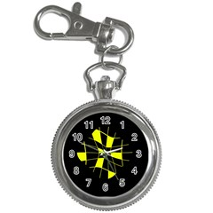Yellow abstract flower Key Chain Watches