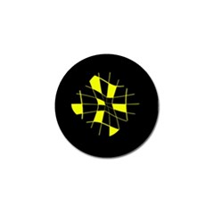 Yellow abstract flower Golf Ball Marker (10 pack)