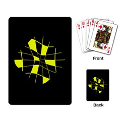 Yellow abstract flower Playing Card