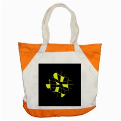 Yellow abstract flower Accent Tote Bag