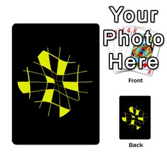 Yellow abstract flower Multi-purpose Cards (Rectangle)