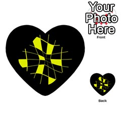 Yellow abstract flower Multi-purpose Cards (Heart)