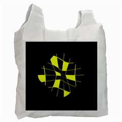 Yellow abstract flower Recycle Bag (One Side)