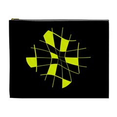 Yellow abstract flower Cosmetic Bag (XL)
