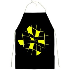 Yellow abstract flower Full Print Aprons