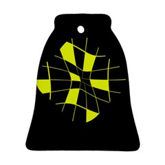 Yellow abstract flower Ornament (Bell)