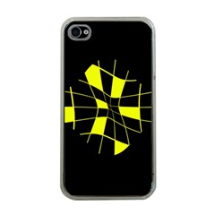 Yellow abstract flower Apple iPhone 4 Case (Clear)
